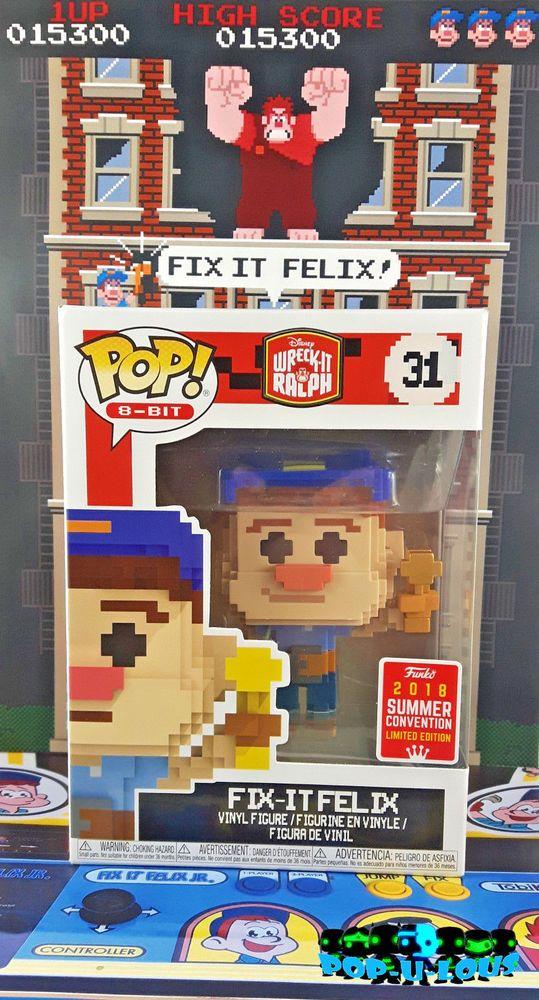 Funko Pop 8-Bit #31 Wreck it Ralph Fix it Felix 2018 Summer Convention Exclusive