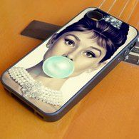 Audrey Hepburn Tiffany Blue Bubble Gum iPhone 6 + 6 Plus Case, Samsung S3 S4 S5 iPhone 4/4S, iPhone 5/5S/5C, iPhone 6 + 6 Plus Case, Samsung S3 S4 S5