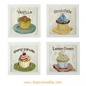 Google cup cakes and cups on pinterest - Cuadros cocina vintage ...