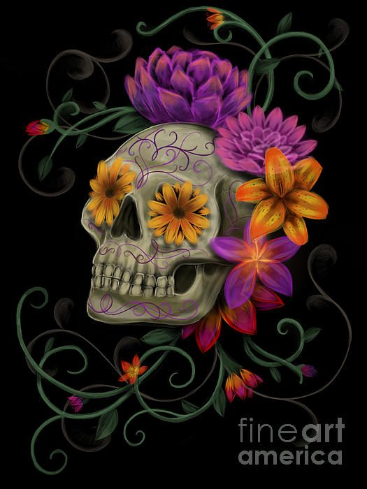 Dia De Muertos by Melissa Senesac - Dia De Muertos Digital Art - Dia De Muertos Fine Art Prints and Posters for Sale
