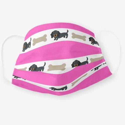 Wiener Dog Dachshund Face Mask In Pink Zazzle Com In 2020