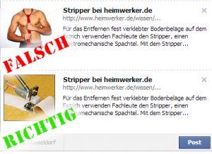 Facebook Vorschaubild - Falsches Bild korrigieren - so merzt man unpassende Vorschaubilder beim Sharen aus.