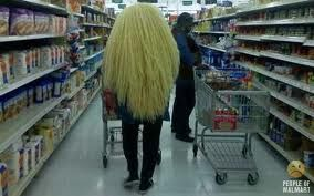 Walmart-ian Level: 8    *note: Reminds me of those trolls that you could hit on the table and the hair goes all whacky.