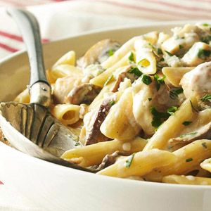 Chicken and Gorgonzola Cheese This rigatoni with chicken and ...