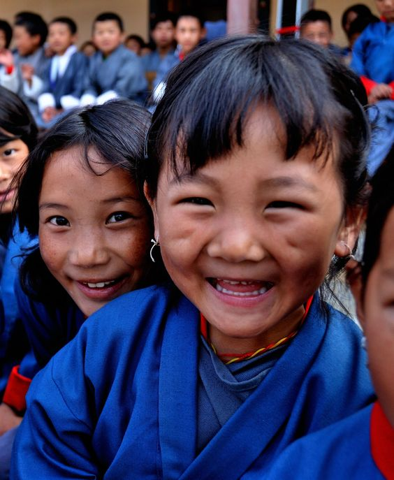 """happy faces from bhutan"" by ryanne { trimmed reality } on Flickr - These dear children live in Bhutan, officially the Kingdom of Bhutan, is a landlocked country in South Asia located at the eastern end of the Himalayas.  It is bordered to the north by China and to the south, east and west by India.:"