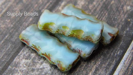 Carribean Ripples, Beads, DIY, Jewelry, Necklace Charms, Fall Fashion, Aqua https://www.etsy.com/shop/SupplyBeads?ref=hdr_shop_menu
