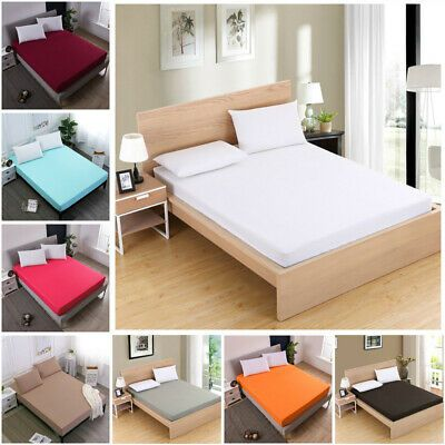 Details About Fitted Sheets Bed Sheet Bedding Cover Deep Pocket Comfort Solid Pillow Case In 2020 Bed Sheets Solid Pillow Bed Covers