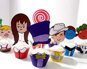 Willy Wonka Chocolate Factory Printable Party Cupcake Wrappers and Toppers. $10.00, via Etsy.