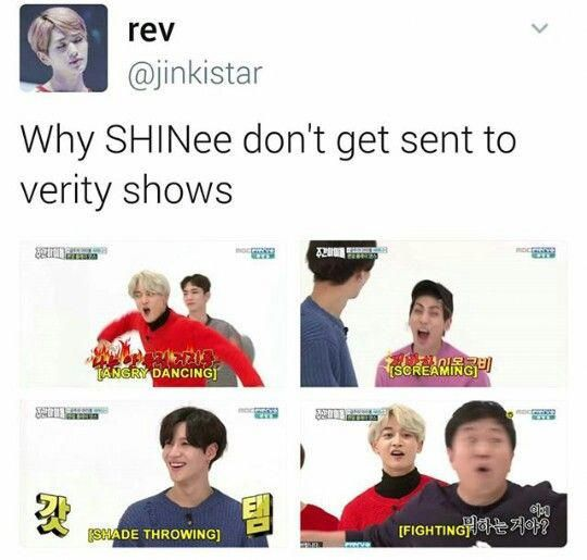 That S Exactly Why They Should Be On Variety Shows Bestlovememes Kpop Memes Shinee Funny Kpop Memes