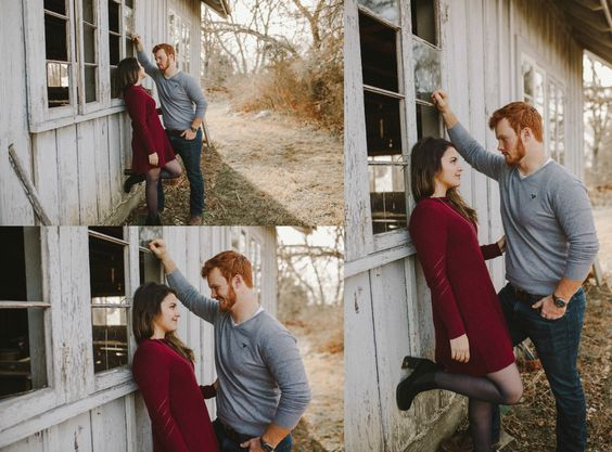 couple photography, engagement photography, forest, cute couple, couple pictures, kayleigh lockhart photography, winter photography, forehead kiss, love, kiss, cute, trees, vines, barn photoshoot