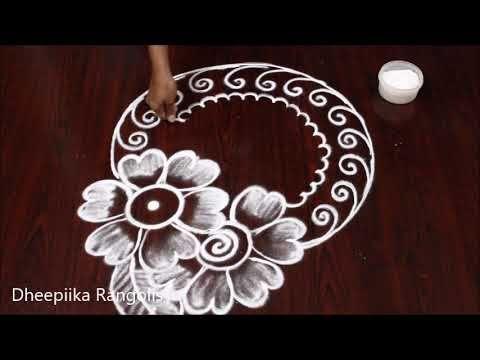 New Year Special Rangoli Design 2020 Margazhi Special Kolams Sankranthi Muggulu Youtube Small Rangoli Design Rangoli Border Designs Special Rangoli