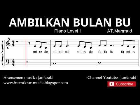 Notasi Balok Ambilkan Bulan Bu Tutorial Piano Grade 1 Ciptaan At Mahmud Youtube Di 2020 Lagu Piano Bulan
