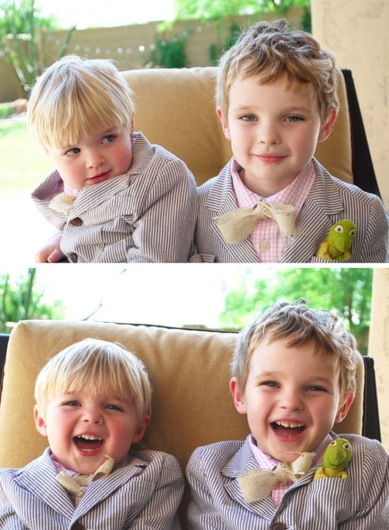 Tutorial for making these adorable no-sew burlap bow ties for Easter Sunday