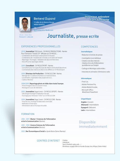 Cv Journaliste Gratuit