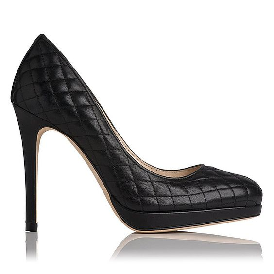 LK Bennett Black Quilted Leather Sledge Pump