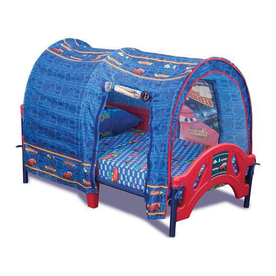 Cars Toddler Bed with Canopy   Toys R Us Australia - for nonnas