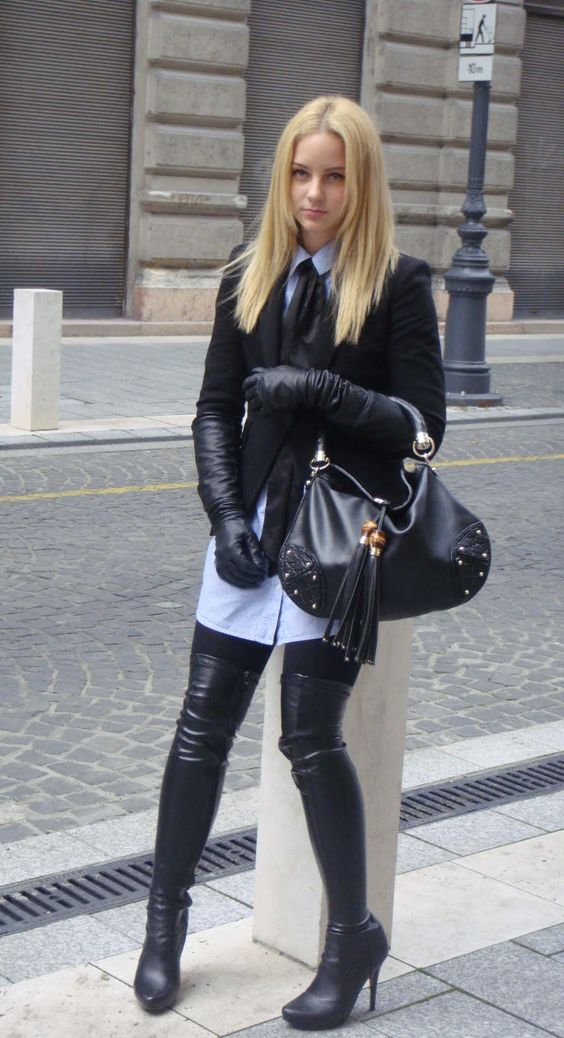 thigh high boots and gloves | Boots &amp Heels | Pinterest | High