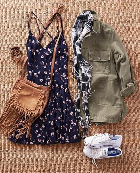Cross-Back Flowy Dress at American Eagle Outfitters - Trendslove