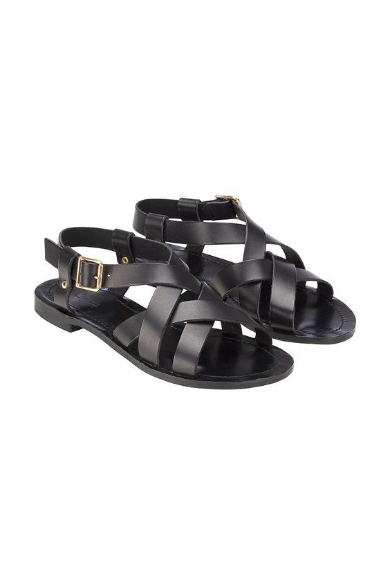 Ganni gladiator style leather sandals