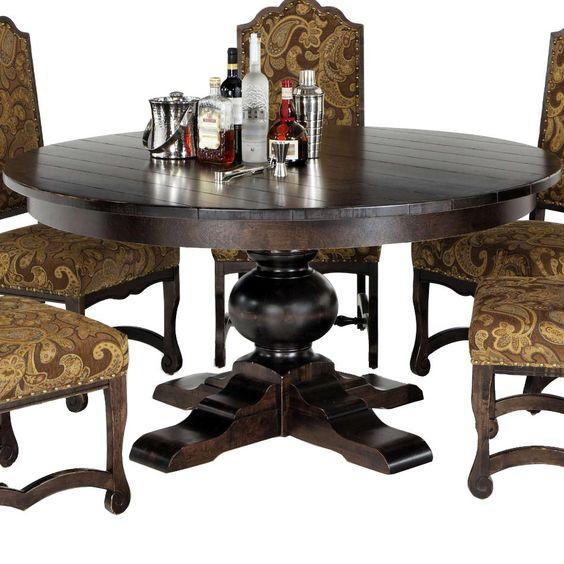 Custom dining bellagio customizable 60 inch round table for Dining room table 60 inch round