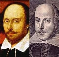 William Shakespeare: Chandos & Droeshout portraits: