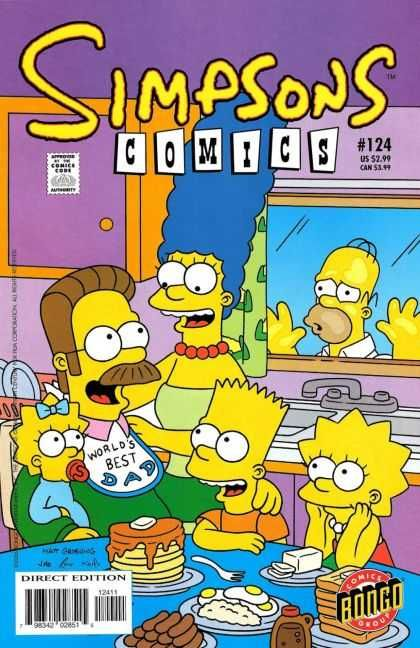 Marge bart lisa and maggie elect ned flanders as the - Marge simpson et bart ...