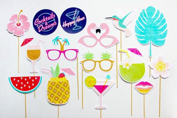 Tropical Party Props Cocktails and Dreams Photo par CreativeSenseCo