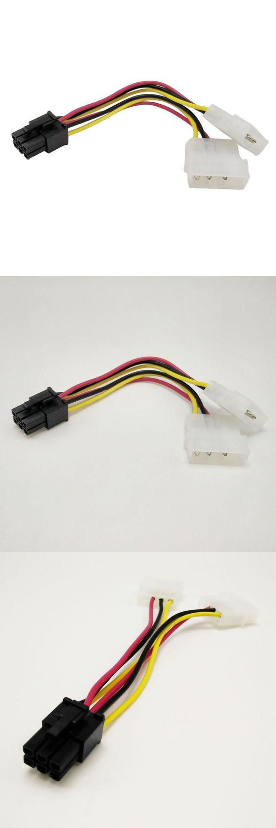 a8b970f7dae786609aa181b10b0d8d71 visit to buy] 4pcs high quality 2 x molex to pci e power adapter  at panicattacktreatment.co