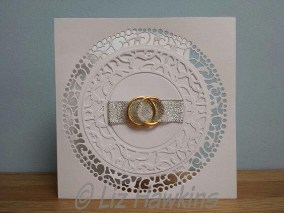 S6 Crafting - Wedding card using Tonic Verso wreath dies