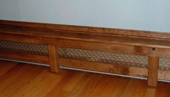 baseboard heater cover for natural or painted trim built in closets cupboards window seats. Black Bedroom Furniture Sets. Home Design Ideas