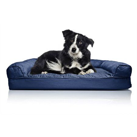 Furhaven Pet Dog Bed Orthopedic Quilted Sofa Style Couch Pet Bed For Dogs Cats Navy Large Walmart Com Dog Pet Beds Orthopedic Dog Bed Couch Pet Bed
