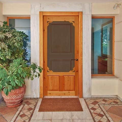 Screen Door Cedar Woodland 1 3 8 In Thick Wood Screen Door Wood Exterior Door Exterior Doors