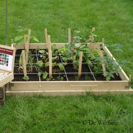 One square meter garden with 16 different vegetables herbs flowers a concept of 39 de wiltfang - Square meter vegetable garden ...