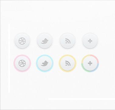 Clean Circle Social Icons Free PSD