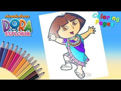 Dora The Explorer Coloring Pages Nickelodeon Nick Jr Coloring Book Forkids Youtube