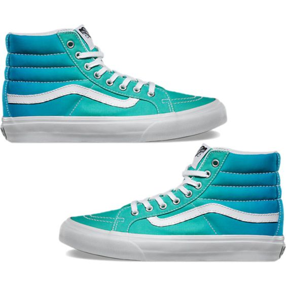 Ombre High Top Vans by kayleerosie365 on Polyvore featuring Vans