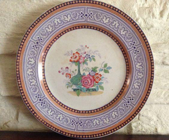 Sehr frühe Exquistely dekorierte Teller / von MerryLegsandTiptoes