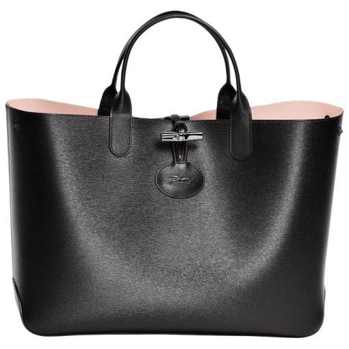 Medium tote bag - ROSEAU R��VERSIBLE - Handbags - Longchamp - Sandy/Cherry - Longchamp