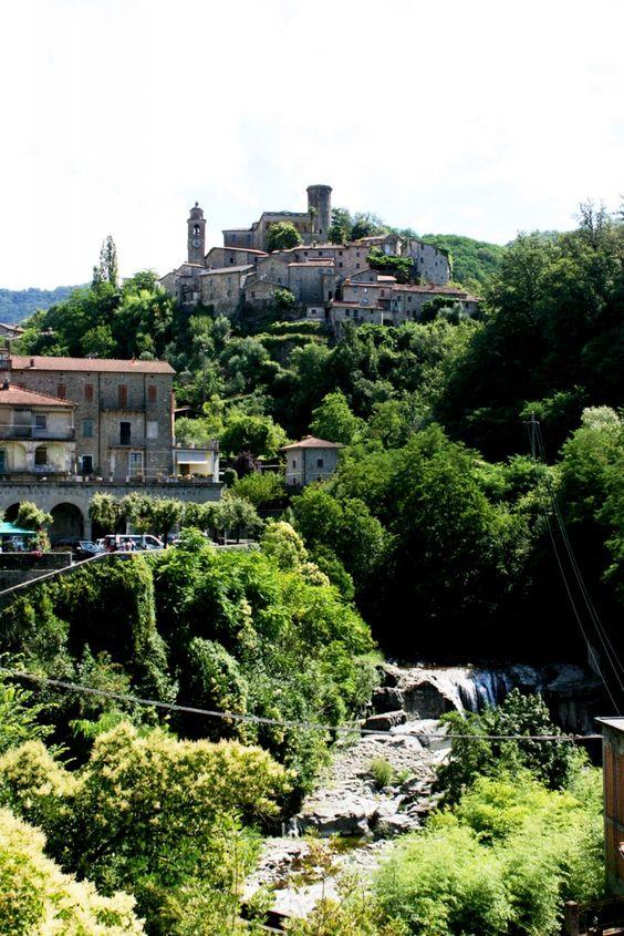 Medieval city of Bagnone in Tuscany Bagnone Massa e Carrara Tuscany Italy
