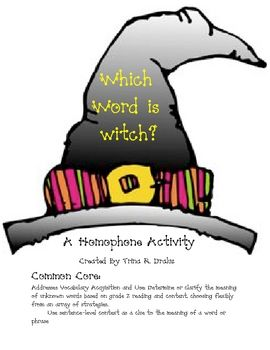 Which Word is Which? A Homophone Activity  $1.00