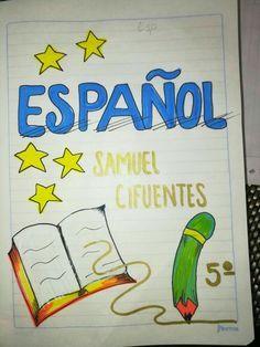 Caratula Espanol Portada De Cuaderno De Ciencias Portada De Cuaderno De Dibujos Caratulas Para Cuadernos