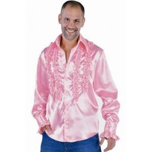 d guisement chemise disco rose homme luxe satin hippie et chemises. Black Bedroom Furniture Sets. Home Design Ideas