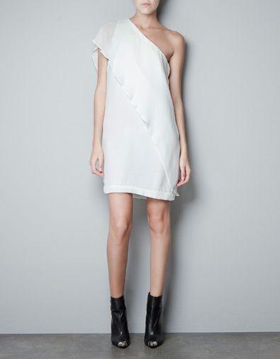 ASYMMETRIC DRESS - Dresses - Woman - ZARA