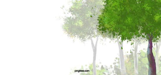 Fondo De Primavera De Arboles Acuarela In 2021 Watercolor Trees Spring Background Spring Background Images