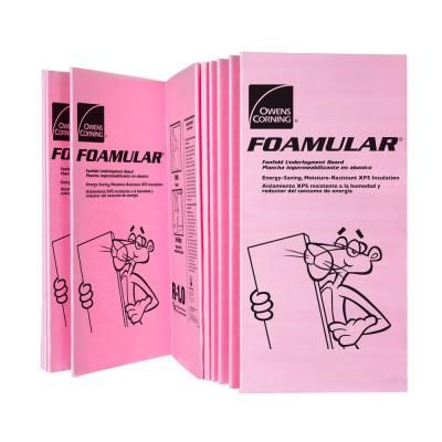 Owens Corning Foamular 150 1 In X 4 Ft X 8 Ft R 5 Scored Square Edge Rigid Foam Board Insulation Sheathing 2 Foam Insulation Board Foam Insulation Sheathing
