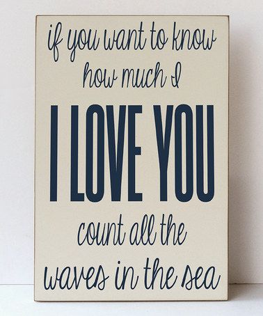 This Cream & Navy Blue 'Waves of the Sea' Plaque by Vinyl Crafts is perfect! #zulilyfinds Would be great in my future nautical themed bathroom!