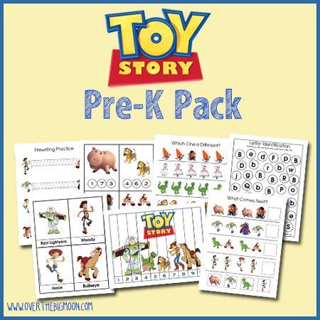 *FREE* Prek Toy Story Pack