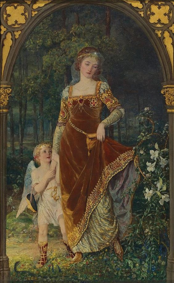 arthistorianmindswirls:  Talbot Hughes,The Path of True Love Never Did Run Smooth