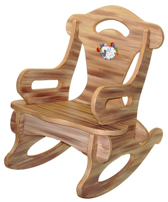 Solid Wood Kids Furniture #27: Brown Puzzle Rocker Rocking Chair Solid Wood For By Dazzlecrystal, $22.99
