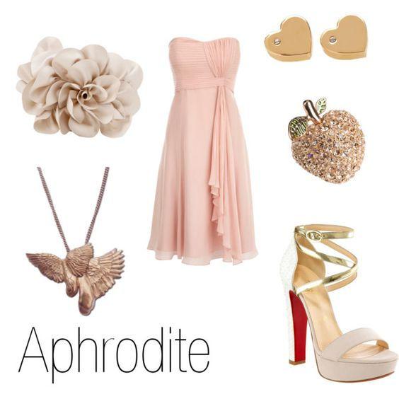 Aphrodite, created by ja-vy on Polyvore - LOVE.    YESSSSSS!!! My matron goddess in the form of clothing and accessories! -AL